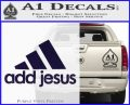 Adidas Add Jesus Decal Sticker PurpleEmblem Logo 120x97