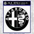 Alfa Romeo Emblem Decal Sticker Black Logo Emblem 120x120