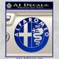 Alfa Romeo Emblem Decal Sticker Blue Vinyl 120x120