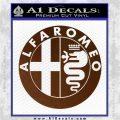 Alfa Romeo Emblem Decal Sticker Brown Vinyl 120x120