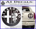 Alfa Romeo Emblem Decal Sticker Carbon Fiber Black 120x97