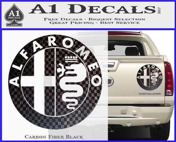 alfa romeo emblem decal sticker a1 decals. Black Bedroom Furniture Sets. Home Design Ideas