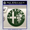 Alfa Romeo Emblem Decal Sticker Dark Green Vinyl 120x120