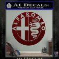 Alfa Romeo Emblem Decal Sticker Dark Red Vinyl 120x120