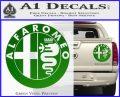 Alfa Romeo Emblem Decal Sticker Green Vinyl 120x97