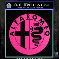 Alfa Romeo Emblem Decal Sticker Hot Pink Vinyl 120x120