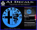 Alfa Romeo Emblem Decal Sticker Light Blue Vinyl 120x97