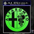 Alfa Romeo Emblem Decal Sticker Lime Green Vinyl 120x120