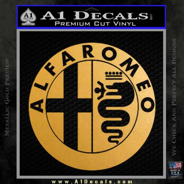 Alfa Romeo Emblem Decal Sticker » A1 Decals