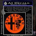 Alfa Romeo Emblem Decal Sticker Orange Vinyl Emblem 120x120