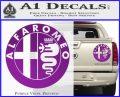Alfa Romeo Emblem Decal Sticker Purple Vinyl 120x97