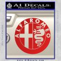 Alfa Romeo Emblem Decal Sticker Red Vinyl 120x120