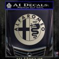 Alfa Romeo Emblem Decal Sticker Silver Vinyl 120x120