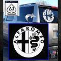 Alfa Romeo Emblem Decal Sticker White Emblem 120x120