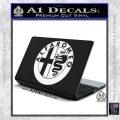 Alfa Romeo Emblem Decal Sticker White Vinyl Laptop 120x120