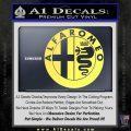 Alfa Romeo Emblem Decal Sticker Yelllow Vinyl 120x120