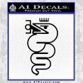 Alfa Romeo Snake Decal Sticker Black Logo Emblem 120x120