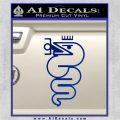 Alfa Romeo Snake Decal Sticker Blue Vinyl 120x120