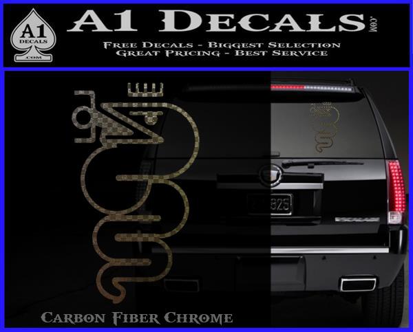 Alfa Romeo Snake Decal Sticker A1 Decals