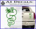 Alfa Romeo Snake Decal Sticker Green Vinyl 120x97