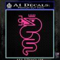 Alfa Romeo Snake Decal Sticker Hot Pink Vinyl 120x120