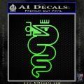 Alfa Romeo Snake Decal Sticker Lime Green Vinyl 120x120