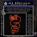 Alfa Romeo Snake Decal Sticker Orange Vinyl Emblem 120x120