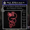 Alfa Romeo Snake Decal Sticker Pink Vinyl Emblem 120x120