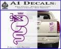 Alfa Romeo Snake Decal Sticker Purple Vinyl 120x97