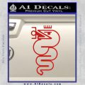 Alfa Romeo Snake Decal Sticker Red Vinyl 120x120
