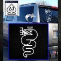 Alfa Romeo Snake Decal Sticker White Emblem 120x120