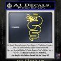Alfa Romeo Snake Decal Sticker Yelllow Vinyl 120x120