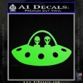 Alien Copilots Decal Sticker Lime Green Vinyl 120x120