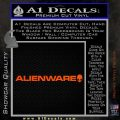 Alienware Logo Decal Sticker Orange Vinyl Emblem 120x120