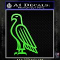 American Bald Eagle DG Decal Sticker Lime Green Vinyl 120x120