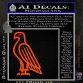 American Bald Eagle DG Decal Sticker Orange Vinyl Emblem 120x120