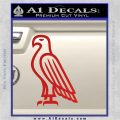 American Bald Eagle DG Decal Sticker Red Vinyl 120x120