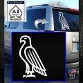 American Bald Eagle DG Decal Sticker White Emblem 120x120