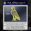 American Bald Eagle DG Decal Sticker Yelllow Vinyl 120x120