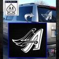 Anahiem Angels MLB Decal Sticker White Emblem 120x120
