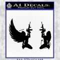 Angel Devil Girl Guns Decal Sticker D3 Black Logo Emblem 120x120