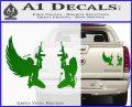 Angel Devil Girl Guns Decal Sticker D3 Green Vinyl 120x97
