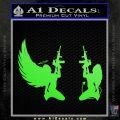Angel Devil Girl Guns Decal Sticker D3 Lime Green Vinyl 120x120