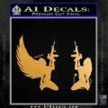 Angel Devil Girl Guns Decal Sticker D3 Metallic Gold Vinyl 120x120
