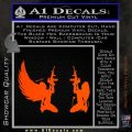Angel Devil Girl Guns Decal Sticker D3 Orange Vinyl Emblem 120x120
