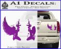 Angel Devil Girl Guns Decal Sticker D3 Purple Vinyl 120x97