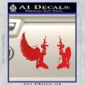 Angel Devil Girl Guns Decal Sticker D3 Red Vinyl 120x120