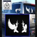 Angel Devil Girl Guns Decal Sticker D3 White Emblem 120x120
