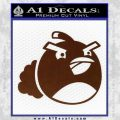 Angry Birds Bomb Decal Sticker BROWN Vinyl 120x120