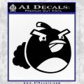 Angry Birds Bomb Decal Sticker Black Vinyl 120x120